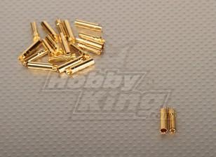 Conectores de oro de 4 mm PolyMax (10pairs / set)