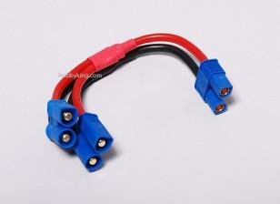 EC3 batería arnés 14 AWG para 2 Paquetes en paralelo