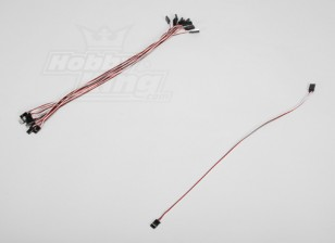 40CM Servo plomo (Futaba) 32AWG Ultra Light (10pcs / set)
