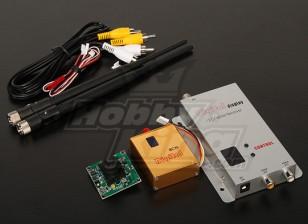 900MHZ 800mW Tx / Rx y cámara CCD de 1/3 pulgadas NTSC