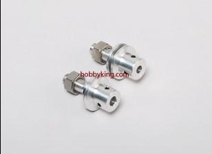 Prop adaptador w / Acero Tuerca del eje 5 / 16x24-M5mm (Grub tipo tornillo)