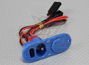 Deber pesada Interruptor RX con el puerto de la carga y punto azul Combustible