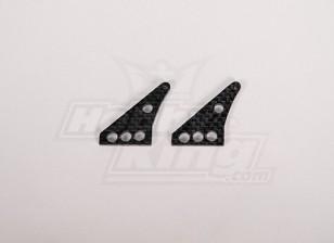 La fibra de carbono de Control de Hornos 32x24mm (2pcs / bolsa)