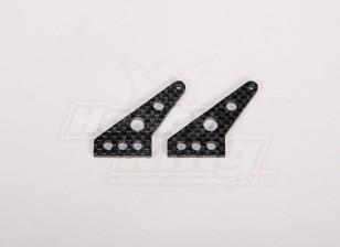 La fibra de carbono de Control de Hornos 35x24mm (2pcs / bolsa)