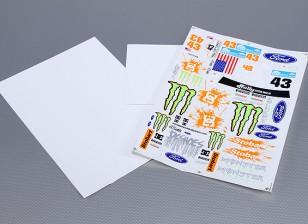 Auto-adhesivo de la etiqueta Hoja - Monster Rally 1/10 Escala (3 piezas)