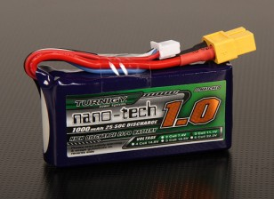 Turnigy nano-tech 1000mah 3S 25 ~ 50C Lipo Pack de