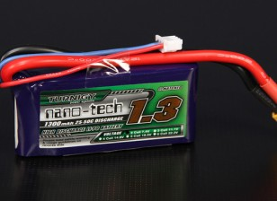 Turnigy nano-tech 1300mah 2S 25 ~ 50C Lipo Pack de