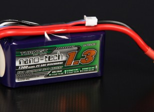 Turnigy nano-tech 1300mah 3S 25 ~ 50C Lipo Pack de