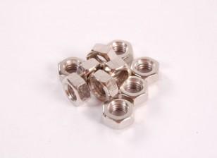 Tuercas hexagonales 10pc M2