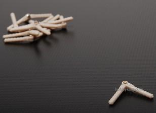 Pivot & Round Bisagras 2.5x43 (10 piezas)