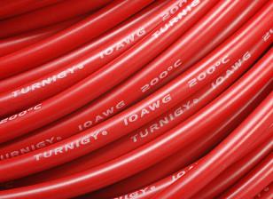 Turnigy Pure-silicona de alambre 10 AWG 1m (rojo)