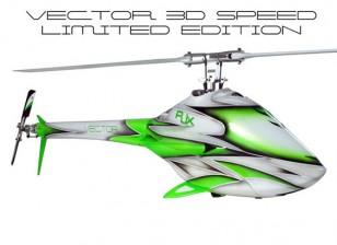RJX Vector Kit Helicóptero 700 EP velocidad 3D edición limitada Flybarless