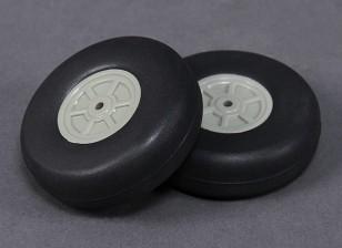 Escala de peso ligero de 60 mm de la rueda (2 piezas)