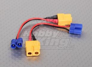 XT60 para EC2 Losi adaptador de carga (2pcs / bolsa)