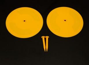 Control de radio del coche Pista Drift marcas amarillas 2 x 200mm