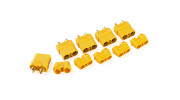 Nylon XT90 Connectors Female With End Cap (5 pcs/bag) Yellow