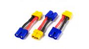 EC3 Male to XT60 Female Battery Adapter (3pcs)