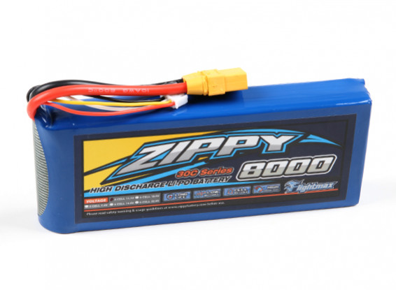 ZIPPY Flightmax 8000mAh 3S1P 30C Lipo Pack with XT90