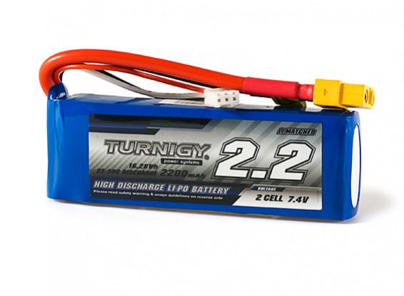Turnigy 2200mAh 2S 25C Lipo Pack w/XT60