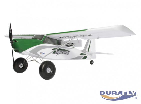 """Durafly Tundra V2 (PNF) - Verde / Argento - 1300mm (51"""") Modello Sportivo con Alette"""