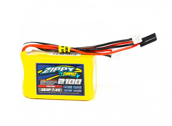 ZIPPY Compact 2100mAh 2S3P 7.4V Receiver Pack