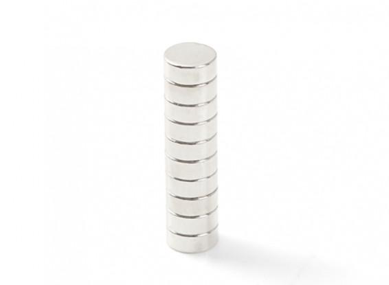 Neodymium Button Magnet 5x2mm (10pcs)