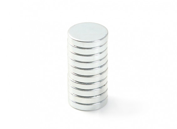 Neodymium Button Magnet 10x2mm (10pcs)