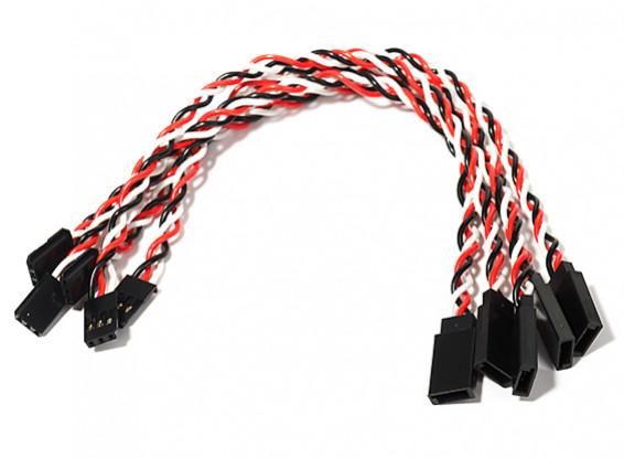 20cm Twisted Servo Lead Extension (Futaba) 22AWG (5pcs/bag)