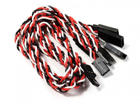 300mm Twisted Servo Lead Extension (Futaba) 22AWG (5pcs/bag)
