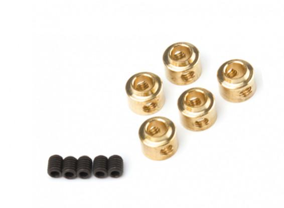 3,5 millimetri ruota metallo Collari (rame) 5pcs / bag