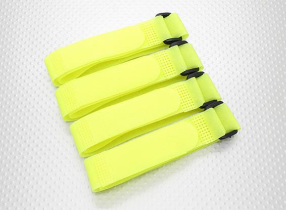 Batteria Strap 400X20mm (giallo) (4pcs / bag)