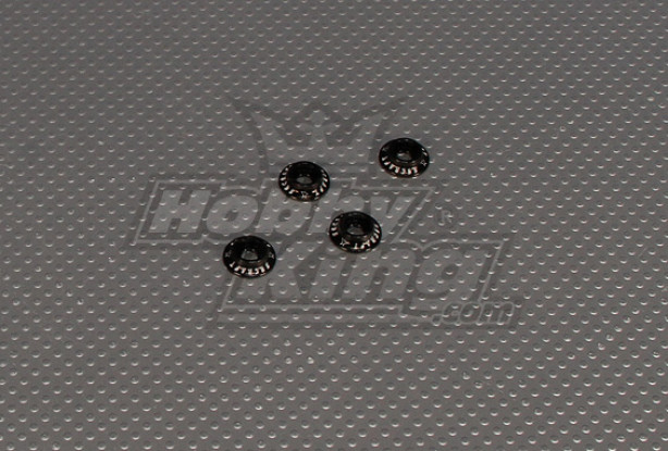 CNC flangiato Washer 4.0 (M4, # 8-32) Nero
