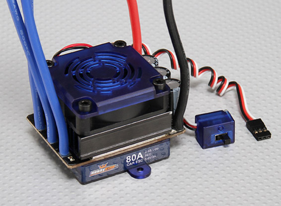 HobbyKing® ™ 80A Sensored / Sensorless Brushless auto ESC