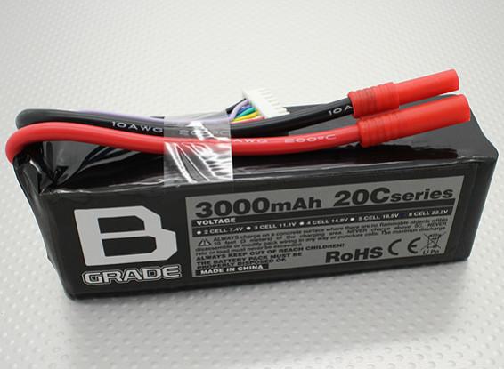 B-Grade 3000mAh 6S 20C Lipoly Batteria