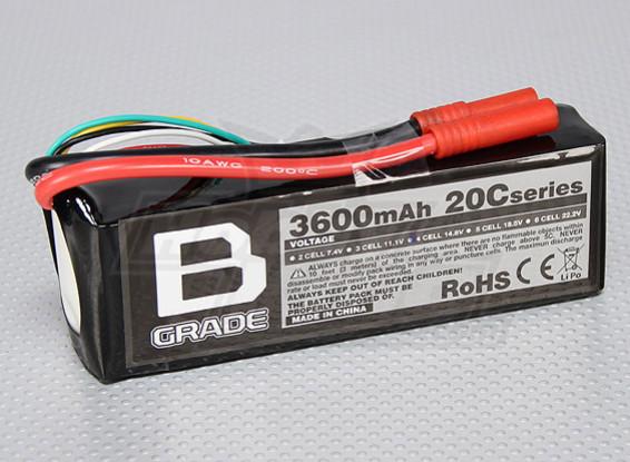 B-Grade 3600mAh 4S 20C Lipoly Batteria