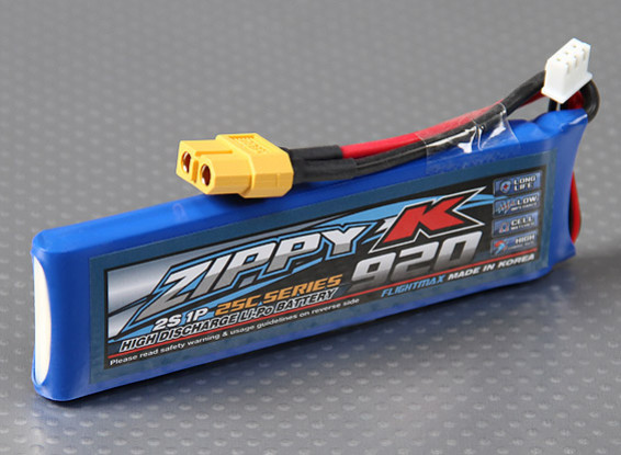 Zippy-K Flightmax 920mAh 2S1P 25C Lipoly Batteria