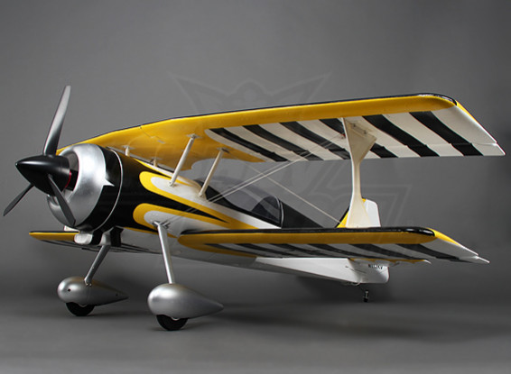 Pitts 12 EPO 1.600 millimetri w / Brushless Motor & Servi (ARF) (giallo / nero)