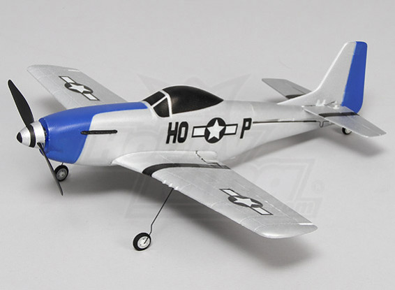P-51 Mustang Ultra Micro 4CH 400 millimetri (Bind e Fly)