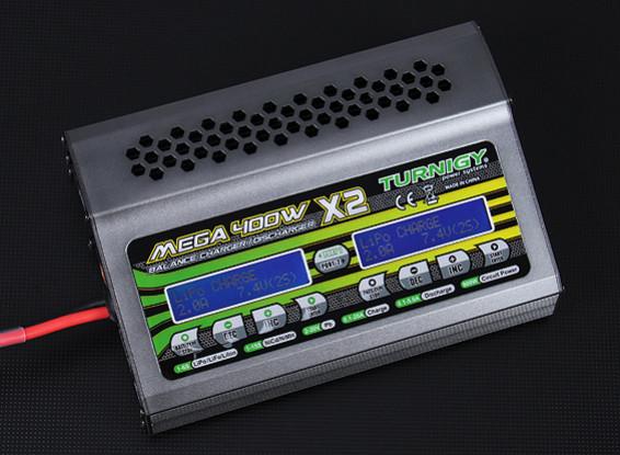 Turnigy MEGA 400Wx2 batteria caricatore / scaricatore (800W)