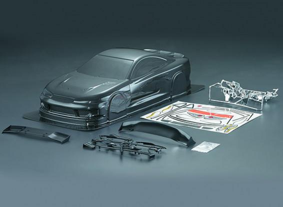 1/10 S15 in fibra di carbonio stile auto Shell corpo (190 millimetri)