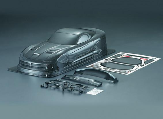 1/10 Viper SRT10 in fibra di carbonio stile auto Shell corpo (190 millimetri)