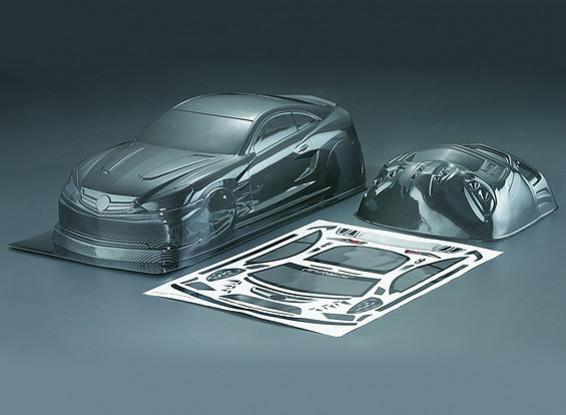 1/10 Carlsson C25 Carbon Fiber Style Car Shell corpo (190 millimetri)