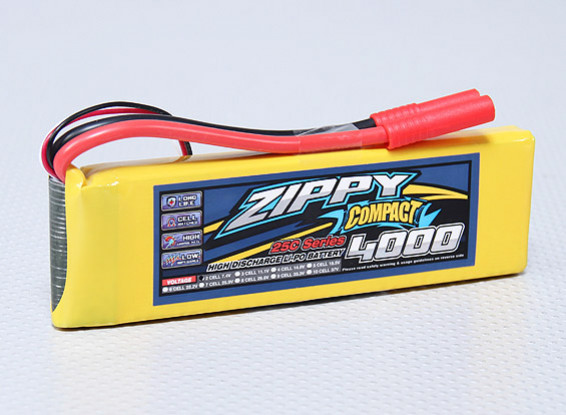 ZIPPY Compact 4000mAh 2S 25C Lipo Confezione