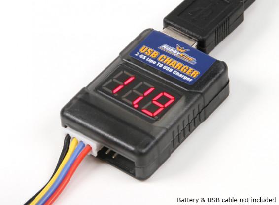 Dipartimento Funzione Pubblica ™ LIPO di ricarica USB Adapter e cellulare Checker (2S ~ 6S)