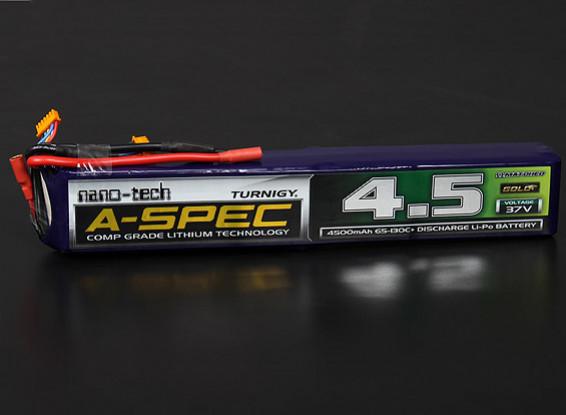 Turnigy nano-tech A-Spec 4500mAh 10S 65 ~ 130C Lipo Confezione