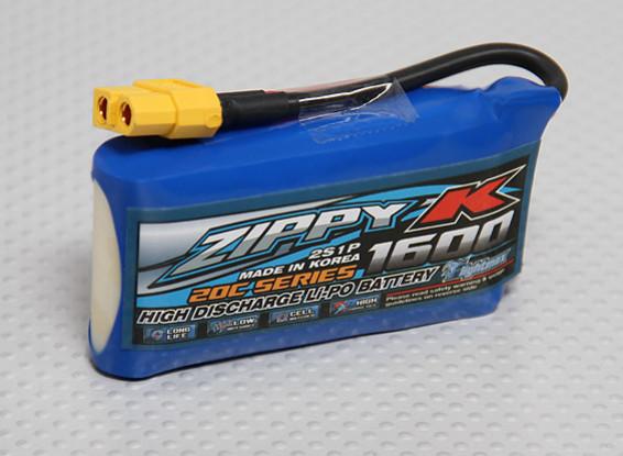 Zippy-K Flightmax 1600mAh 2S1P 20C Lipoly Batteria