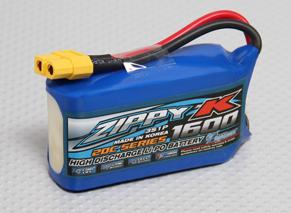 Zippy-K Flightmax 1600mAh 3S1P 20C Lipoly Batteria