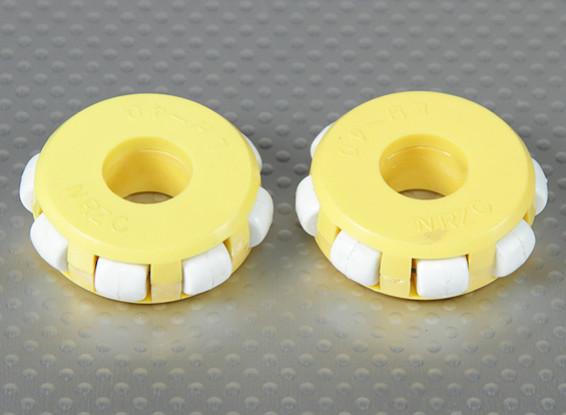 41x14mm plastica Omni Wheel (2Pcs / Bag)