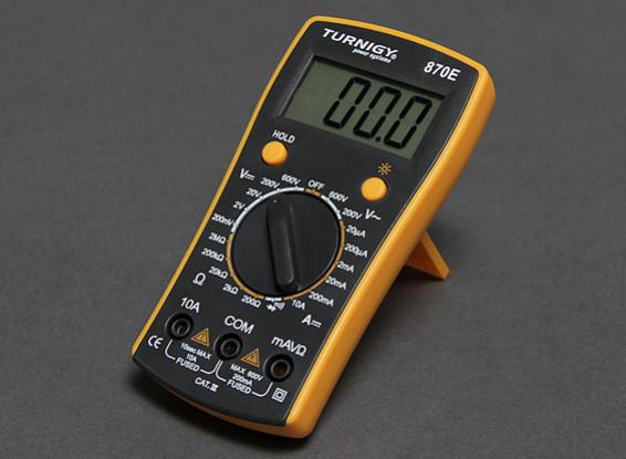 Turnigy 870E multimetro digitale w Display retroilluminato /