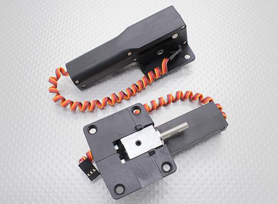 Servoless Ritrarre con Metal Trunion per modelli di grandi dimensioni 51 millimetri x 43mm mount (2 pezzi)